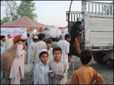 SRSP truck in northern Pakistan