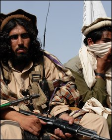 Taleban militants in northern Pakistan
