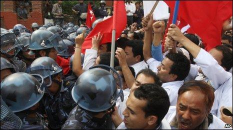 Maoist street protesters