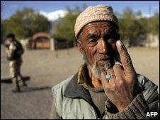 Voter in Ladakh