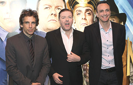 Ben Stiller and Ricky Gervais.