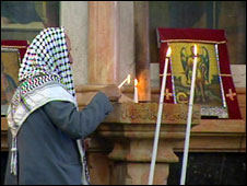 Palestinian church in Bethlehem