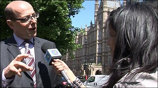 BBC political editor Nick Robinson and Sonali