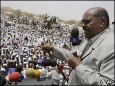 Omar al-Bashir in Sudan, file image