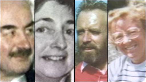 [L-R] Richard Thomas, Helen Thomas, Peter Dixon, Gwenda Dixon