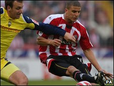 Kyle Walker playing for Sheffield United