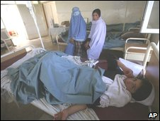 Sick Afghan school child