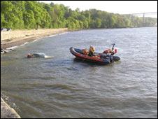 Coastguard with the submerged car