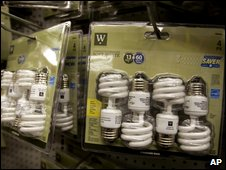 Energy saving bulbs (AP)