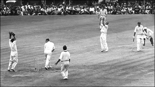 Richie Benaud in action