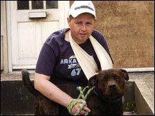 Nathan Williams and dog Hoff