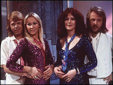 Abba at Eurovision in 1974