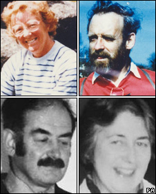 Gwenda and Peter Dixon (top) and brother and sister Richard and Helen Thomas (bottom)