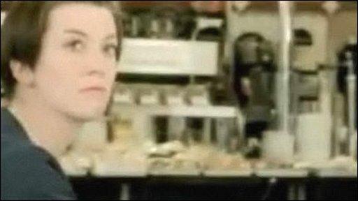 Girl in ad