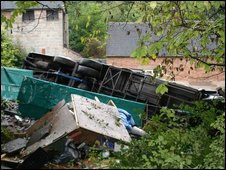 Bus crash near Alton Towers
