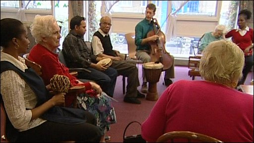 Musicians with Alzheimers patients