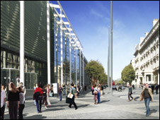 Artist's impression of Exhibition Road