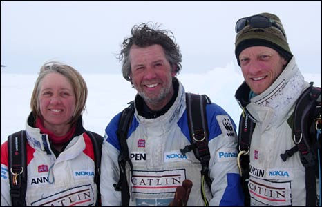 Ann Daniels, Pen Hadow and Martin Hartley (Domonic Hurst)