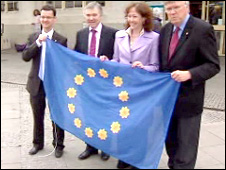 Plaid Cymru with the European flag