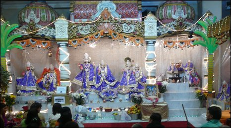 Belfast's main Hindu Temple where over recent years the number of worshippers in decreasing in numbers and getting