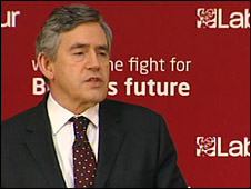 Gordon Brown at Euro election launch