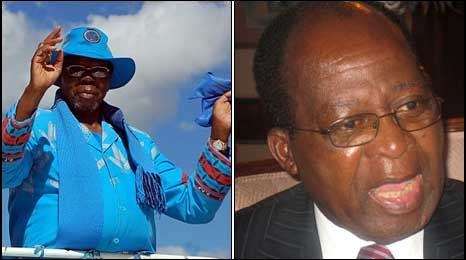 Bingu wa Mutharika (left) and John Tembo (right)