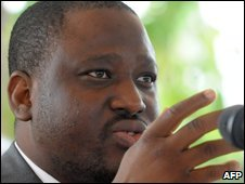 File pic of Ivory Coast Prime Minister Guillaume Soro