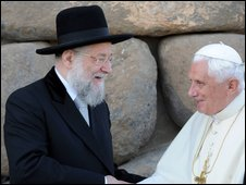 Former Chief Rabbi Yisrael Meir Lau and the Pope