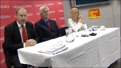 Derek Vaughan, Rhodir Morgan, Lisa Stevens