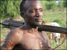 Akwilino Lokwar Lopir is a cattle raider in South Sudan