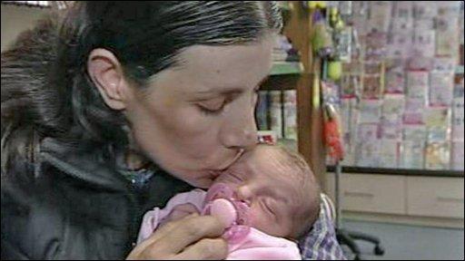 Sonia Nascimento  and baby Dulcie