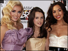 Katherine Jenkins, Faryl Smith and Myleene Klass