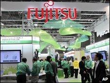 Fujitsu stand at a trade fair in Japan.