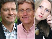 The expert panel: Jonathan Buttery, Simon Calder and Frances Tuke