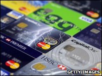 A variety of credit cards