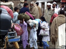 Displaced people in Swat