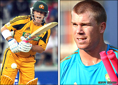 Australia opener David Warner in action