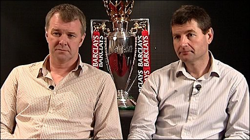 Gary Pallister (left) and Dennis Irwin