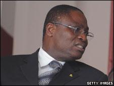 The Ivory Coast's sports minister, Dagobert Banzio