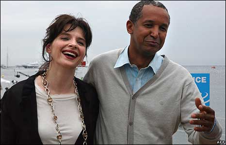 Juliette Binoche and director Abderrahmane Sissako