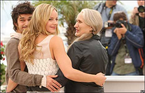 Ben Whishaw, Abbie Cornish and director Jane Campion