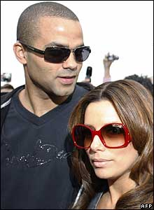 Tony Parker with wife Eva Longoria