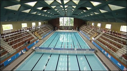 bbc news uk england hampshire delayed pool opened by olympian