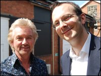 Noel Edmonds and Tim Harford