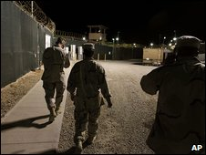 Guards patrol Guantanamo Bay camp