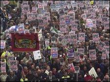 March in Birmingham in 2000