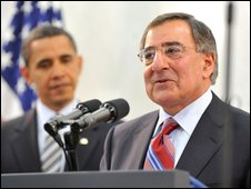 Barack Obama (L) and Leon Panetta, April 2009