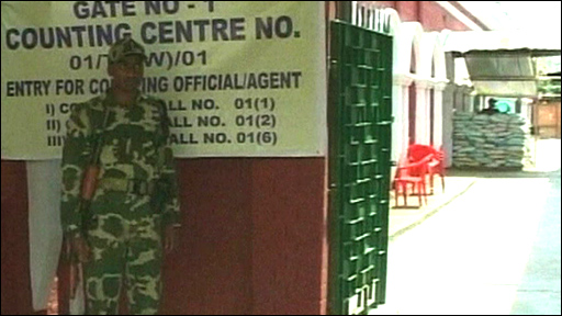 Counting station in India