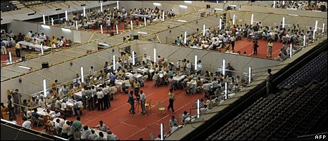 Vote counters in Calcutta