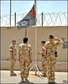 Flag-lowering ceremony
